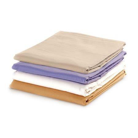 (NRG Cotton Poly Massage Table 3 Piece Sheet Set (Face Rest Cover, Flat Sheet & Fitted Sheet) Pack of 2)