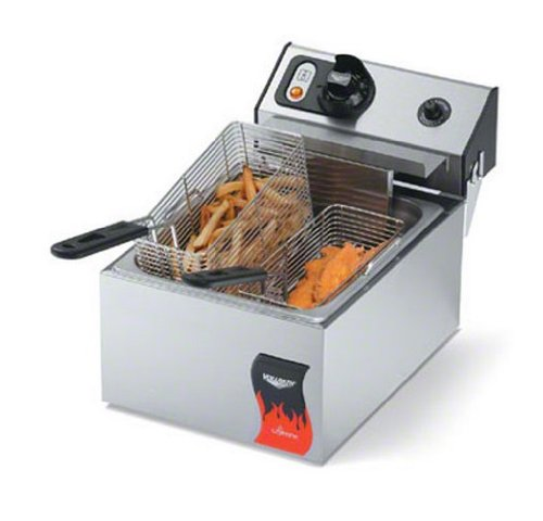 Vollrath 40705 Cayenne Standard Duty Electric Countertop Fryers, 120-Volt, 10-Pound image