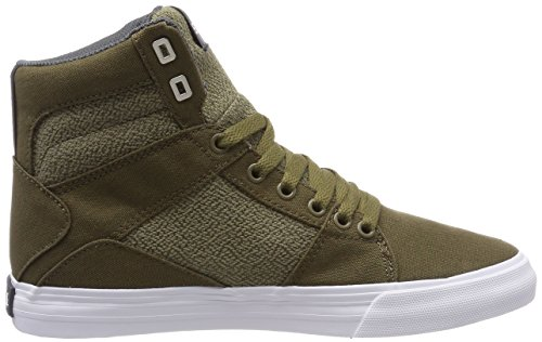 Supra Herren Aluminum Sneaker Grün (Olive-White)