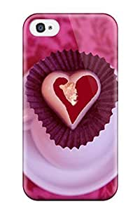 Fashionable AMmeNai7684dKkjx Iphone 4/4s Case Cover For Nice Heart Cup Of Loves Protective Case