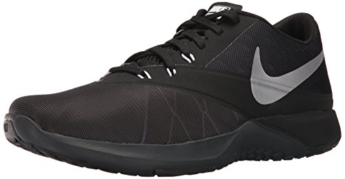 Nike Mens FS Lite Trainer 4 Training Shoe Anthracite/Metallic Silver/Black Size 9 M US