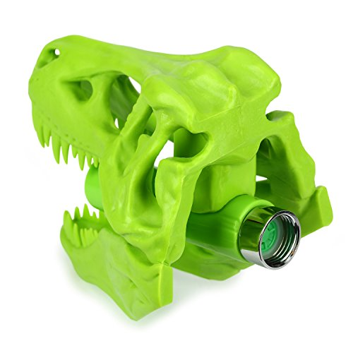 Barbuzzo T-Rex Shower Head, Green - Prehistoric Shower Nozzle Shaped like a Tyrannosaurus Rex Skull - Gives Your Shower-Time a Jurassic Touch - Terrific Gift for Kids & Dino-Enthusiasts - Wash N' Roar by Barbuzzo (Image #4)