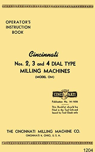 Horizontal Type Tool (Cincinnati 2, 3, 4 Dial Type Horizontal & Vertical Milling Machine Model OM Operating Instructions Manual)