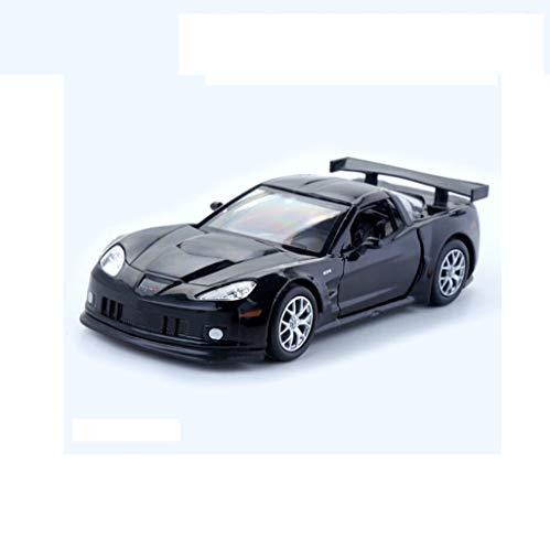 QRFDAIN Diecast Model Cars Alloy car Model Chevrolet Corvette C6-R Model 1:36 Buggy Toy Power boy Gift Pre-Built & Diecast Models ()
