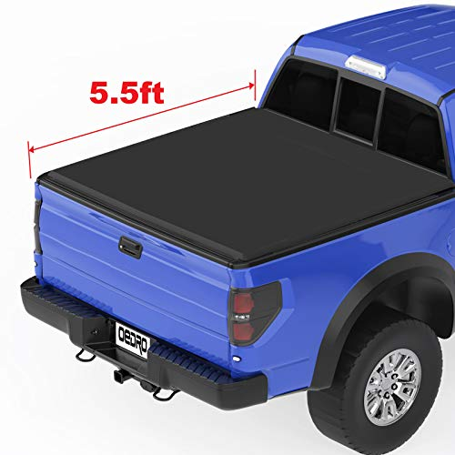 OEDRO TRI-FOLD Truck Bed Tonneau Cover Compatible with 2015-2019 Ford F-150   Styleside 5.5 Feet Bed