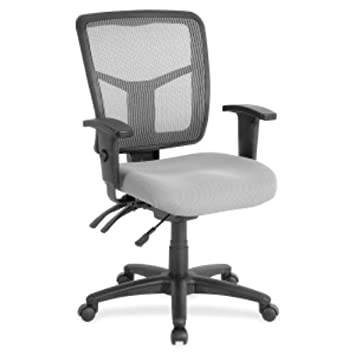 Lorell Swivel Mid-Back Chair, Black Gray, 25-1 4 by 23-1 2 by 40-1 2-Inch