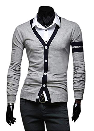 Pullover Jerseys En Largo Hombre Para Grau V Con Betrothales S Cuello Jersey Sweater 0Aaxv