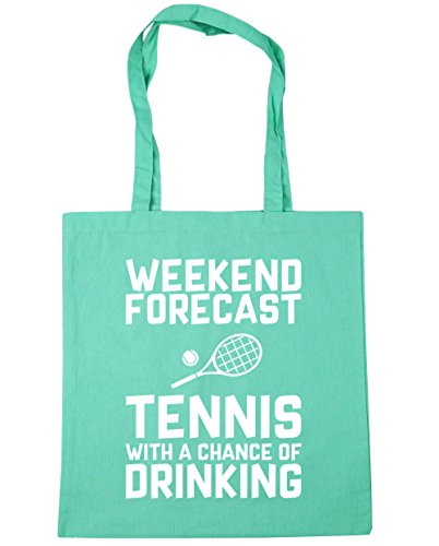 42cm of Drinking Shopping Beach With 10 Weekend Bag HippoWarehouse litres Tennis Tote Forecast Mint a x38cm Chance Gym UOYOxS