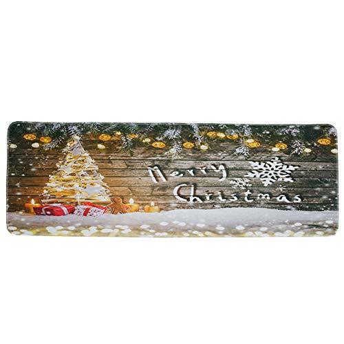 Home Kitchen Carpet Non Slip Large Floor Mat Christmas Garden Entrance Decorative Door Rug Holiday Christmas Ornament Door Mat Bathroom Rug Xmas Tree/Light -