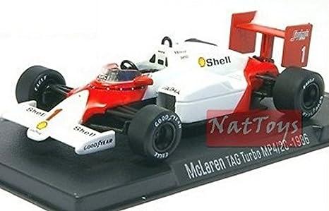 EDICOLA RBA McLaren TAG Turbo MP4/2C 1986 F1 MODELLINO Prost DIE CAST 1:43 MODEL SCALE: Amazon.es: Juguetes y juegos