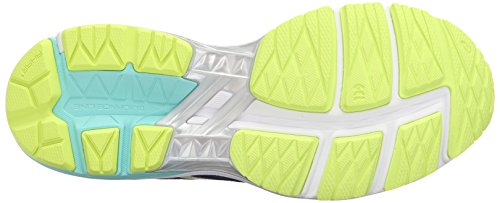 Asics GT-10005Zapatilla de Running de la mujer blanco, amarillo, azul, blanco, índigo, (Indigo Blue/White/Safety Yellow)