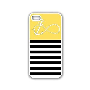 Anchored-Forever Black Stripes & Lemon Yellow White iPhone 5 Case - For iPhone 5/5G - Designer PC Case Verizon AT&T Sprint