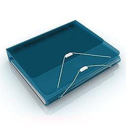 Samsill DUO 2-in-1 Organizer, 1 Inch 3 Ring Binder + 7 Pocket Accordion / Expanding File (School / Tax Organizer),Turquoise