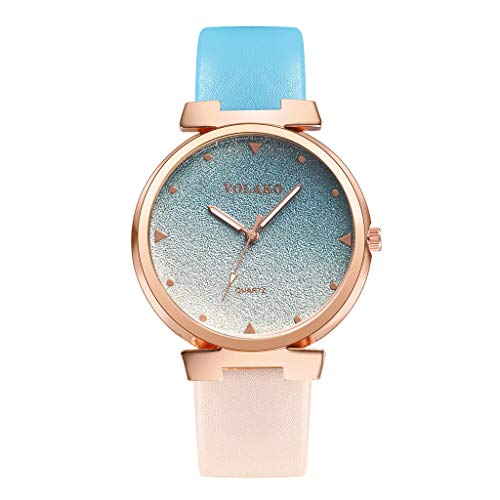 Casual Watch,YOLAKO Women's Casual Quartz Leather Band Newv Strap Watch Analog Wrist Watch,Novelty Watches