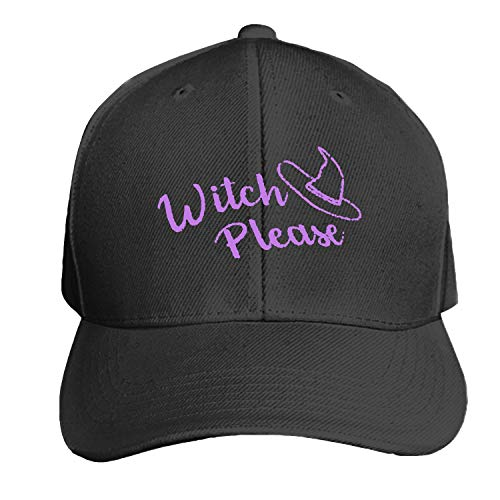 Halloween Witch Please Printed Sandwich Baseball Cap for