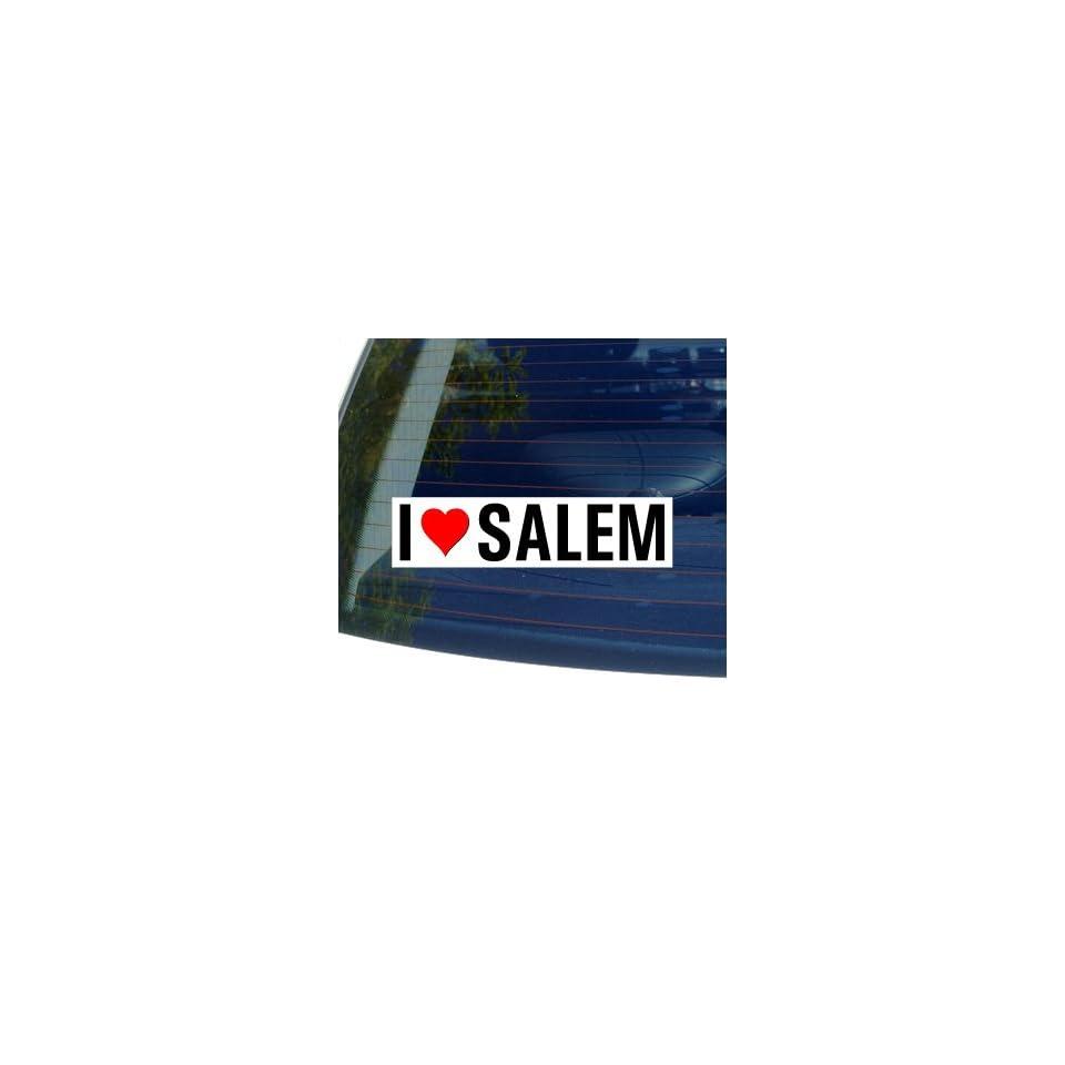 I Love Heart SALEM   Oregon Window Bumper Sticker