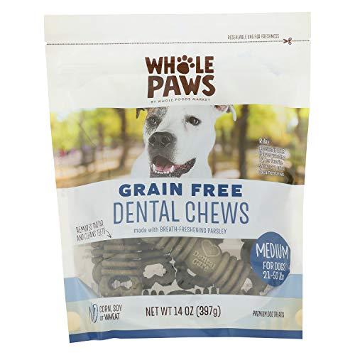 Whole Paws Grain Free Dental Chews, Medium, 14 Oz
