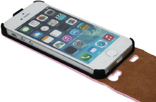Handytasche Flip Style für das Iphone 5 / 5S in Rosa Klapptasche Hülle @ Energmix