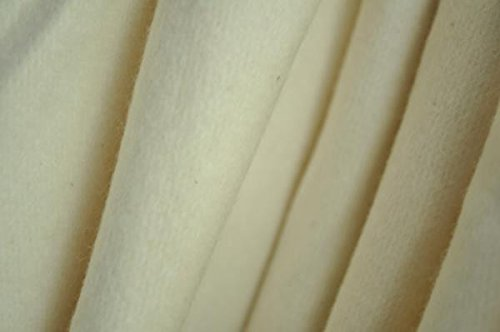 Organic Cotton Fleece Fabric - 12 Ounce - Natural - By the Yard