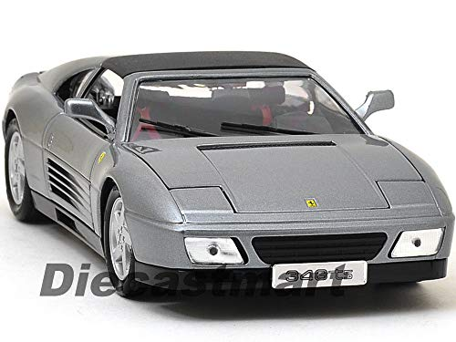 Ferrari 348 TS Metallic Grey 1:18 DIECAST CAR Model 16006 New ()