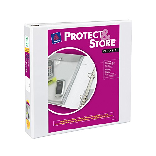 Avery Protect and Store View Binder with 1.5-Inch Slant Ring, Holds 8.5 x 11-Inch Paper, White, 1 Binder - View Durable Binders Avery Reference