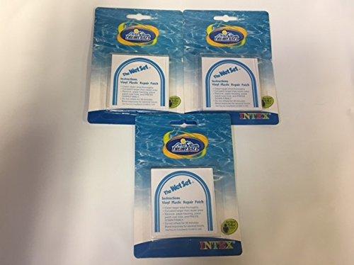 Intex Wet Set Vinyl Plastic Repair Patch (3) - Intex Wet Set