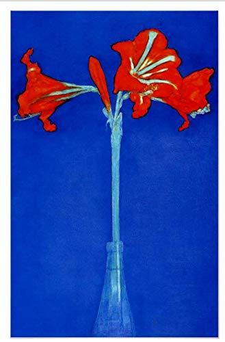 - nigong146017 Mondrian Amaryllis Flower Canvas Print Decor,12x16 inches.