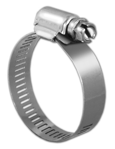Pro Tie 33004 SAE Size 12 Range 11/16-Inch-1-1/4-Inch Regular Duty All Stainless Hose Clamp, by Pro Tie