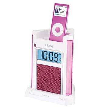 amazon com ihome ih4 alarm clock speaker system with dock for ipod rh amazon com Apple iHome Manual Apple iHome Manual