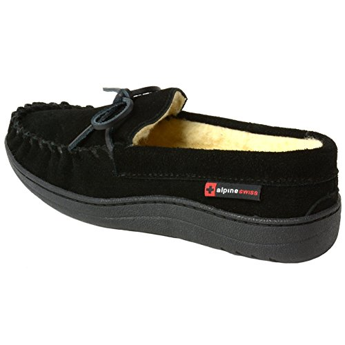 Pictures of alpine swiss Sabine Womens Genuine Suede Shearling By Alpine Swiss 5