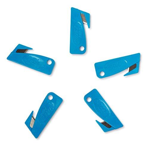 KutzEz Mini 5 Pack Utility Knife (Blue)