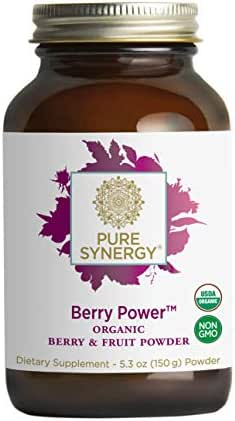Pure Synergy Organic Berry Power 20+ Superfruit Blend for Radiant Health w/Acai, Pomegranate (5.3 oz.)