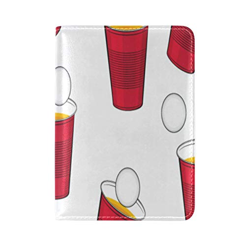 (Passport Cover Case Water Glass Container Daily Necessities Leather&microfiber Multi Purpose Print Passport Holder Travel Wallet For Women And Men 5.51x3.94 In)