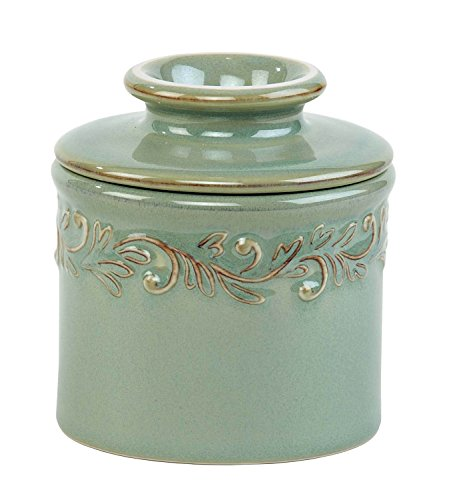 Ceramic Butter Pot (The Original Butter Bell Crock by L. Tremain, Antique Collection - Sea Spray)