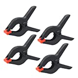 KINYOOO 4 Pcs – 6 Inch Spring Clamps, Heavy Duty Plastic Muslin Clamps for Background Muslin, Canvas, Paper, Chroma Key Screen, Heavy Duty Clip, Photo Studio and Any More.