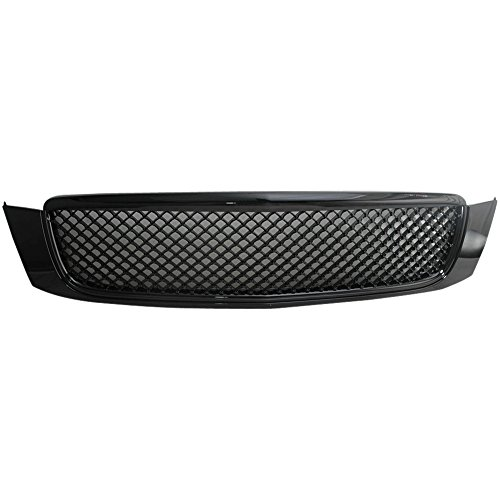 IKON MOTORSPORTS Grille Fits 2000-2005 CADILLAC DEVILLE   Mesh Style ABS BlackFront Bumper Hood Grill