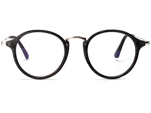 Allt Vintage Round Optical Eyewear Frame Eyeglasses with Clear Lenses For Women Men (Gray, - Vintage Round Eyeglasses