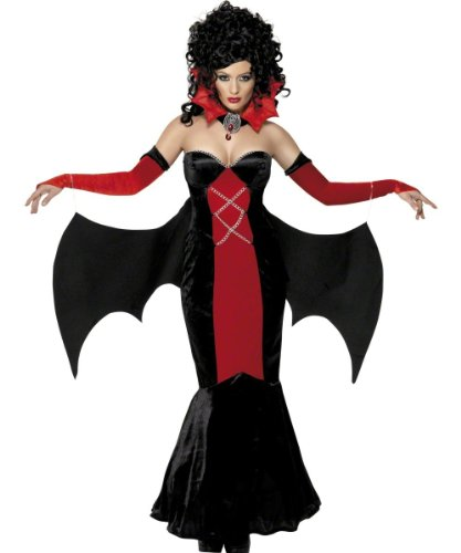 Smiffys Women's Gothic Manor Vampire (Lady Of The Manor Adult Costumes)