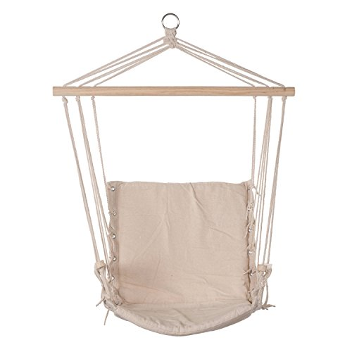 Prime Garden Hanging Rope Chair Cotton Padded Swing - Hammock Macrame