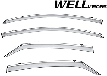 Well Visors Side Window Deflectors for Toyota Camry 2018 with Black Trim