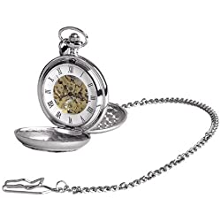 Woodford Men's Mechanical Pocket Watch with White Dial Analogue Display 1955/SK