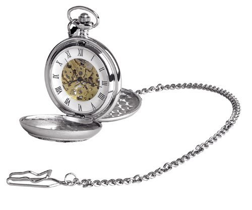 Woodford Men's Mechanical Pocket Watch with White Dial Analogue Display 1943/SK