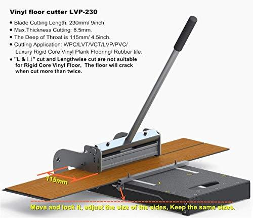"MantisTol 9"" Pro LVT/VCT/LVP/PVC/WPC/Rigid Core Vinyl Plank Cutter LVP-230 (Upgraded),Best"