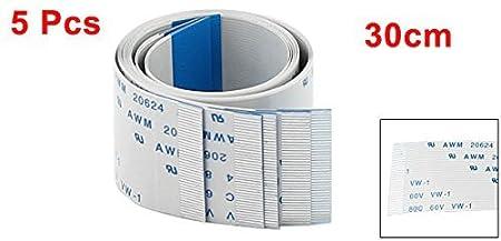 Amazon.com: eDealMax Dirección de avance DE 40 Pines Cinta FFC FPC Cable Plano DE 0,5 mm x 300 mm 5pcs: Electronics