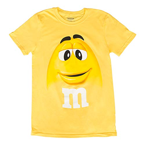 M&M M&M's Candy Yellow Silly Character Face Adult T-Shirt (Adult XX-Large) -