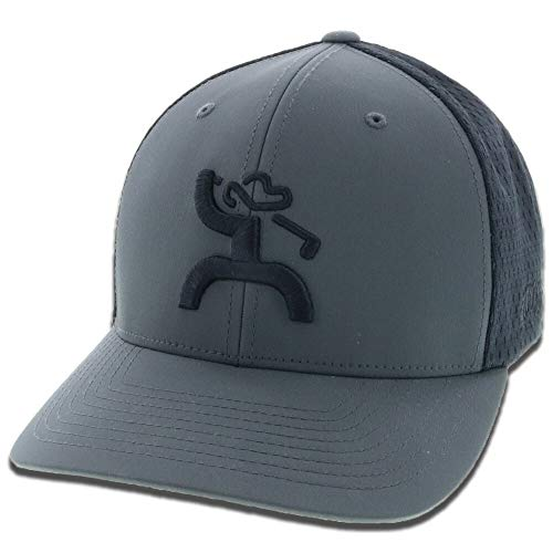HOOey Golf Mosaic Gray/Black Flexfit Fitted Hat (L/XL)