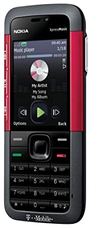 Amazon com: Nokia 5310 XpressMusic Phone, Red (T-Mobile