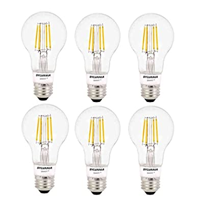 Sylvania Smart+ Home Bluetooth Soft White Dimmable A19 LED Light Bulb (6 Pack)