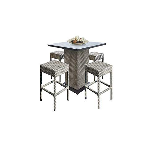 - JumpingLight Florence Pub Table Set Backless Barstools 5 Piece Patio Furniture Durable and Ideal for Patio and Backyard