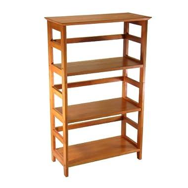 Winsome Wood 4-Tier Bookshelf, Honey